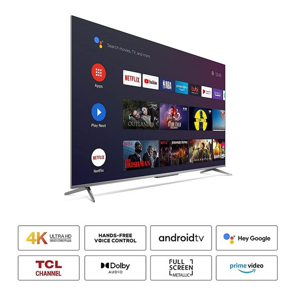 TCL 108 cm (43 inch) Ultra HD (4K) LED Smart Android TV  (TCL43P715)