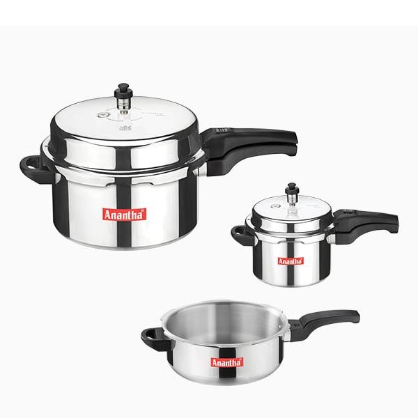 Anantha Family Pack – 7.5 L Combo Cooker (7.5LFAMILYPACK)