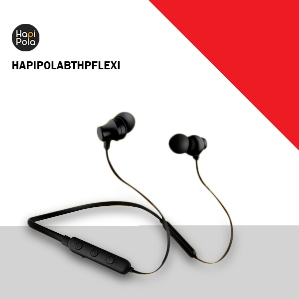 HAPI POLA Capsule in- Bluetooth Headphones (Black) (HAPIPOLABTHPFLEXI)