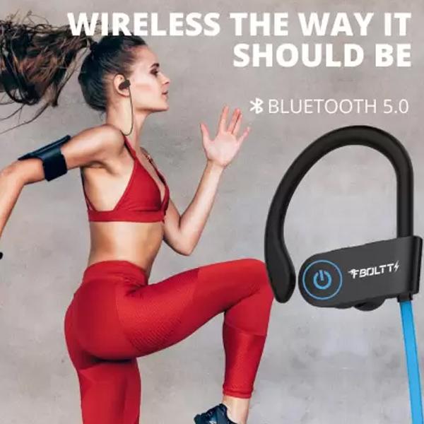 Fire-Boltt BN1300 Bluetooth Headset  (Blue, In the Ear) - BOLTTEPFBHPBN1300