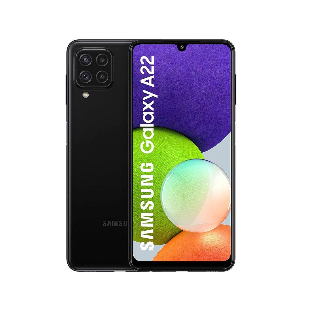 Samsung Galaxy A22 (Black, 128GB) (6GB RAM) (A225FZKR6128GBBLACK)