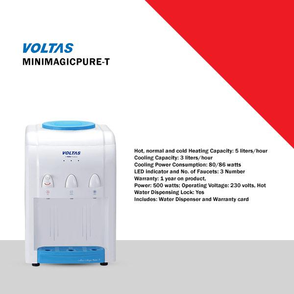 Voltas Pure T Bottled Water Dispenser (MINIMAGICPURE-T)