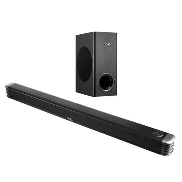 BoAt Aavante Bar 1803 120 W Bluetooth Soundbar ,Black (BOATSBWSUBWR1803120W)