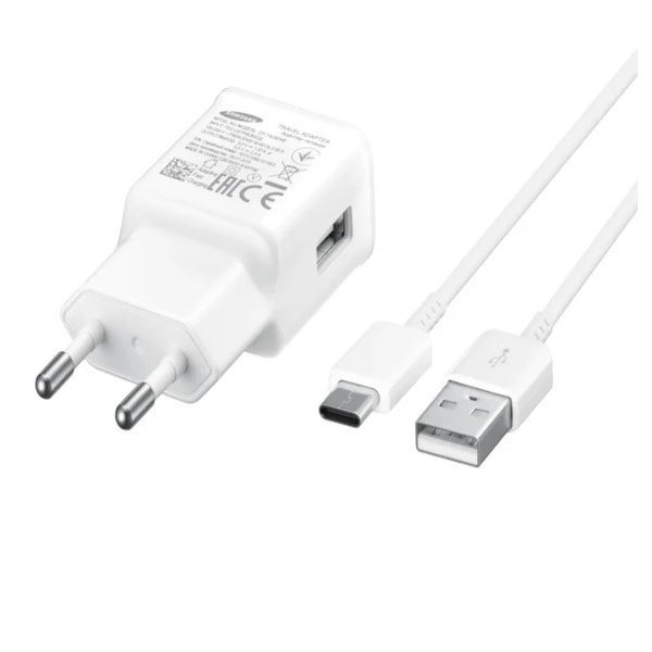 Samsung EP-TA20IWECGIN Type C Mobile Charger with Detachable Cable  (White) (SAMSEP-TA20IWECGIN)