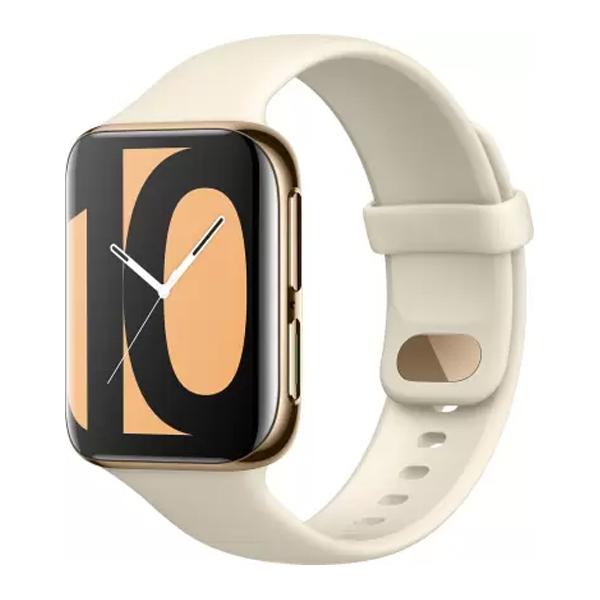 OPPO Watch 46 mm WiFi Smartwatch  (Gold Strap, Regular) (OPPOSWG46MMGOLD)