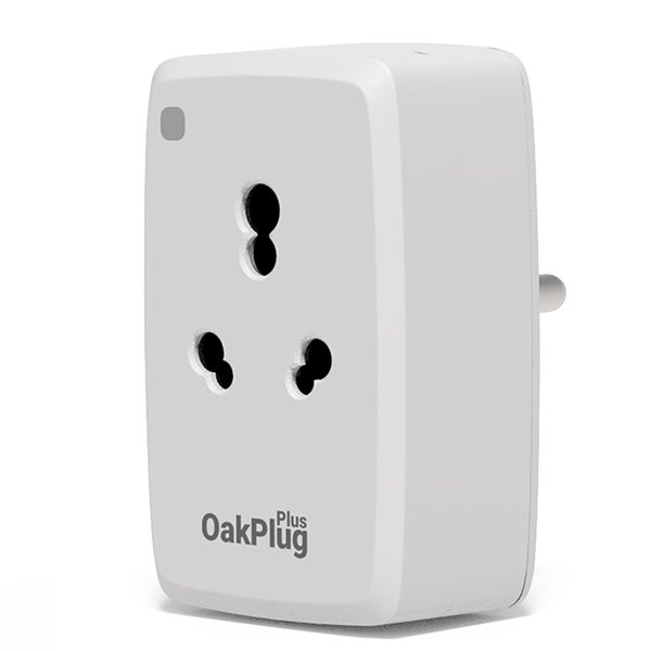 Oakter Oak Plug Plus Smart Plug, White OAKPLUGPLUS