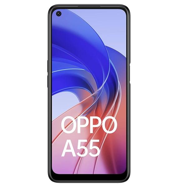 Oppo A55 (64GB ROM, 4GB RAM, CPH 2325, Starry Black) (A55464STARRYBLACK)