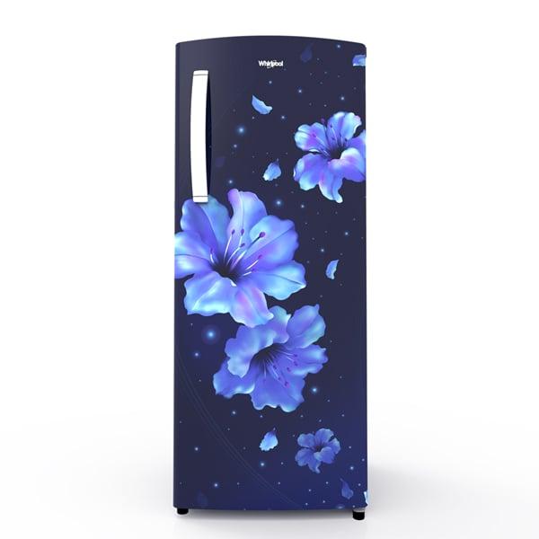 Whirlpool 200 L Direct Cool Single Door 3 Star Refrigerator (Sapphire Hibiscus) (205IMPCROY3SSAPPHIBI)