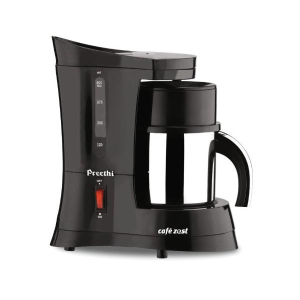 Preethi Cafe Zest CM 210 10 Cups Coffee Maker -Black (COFFEEMAKERNEWCAFEZE)