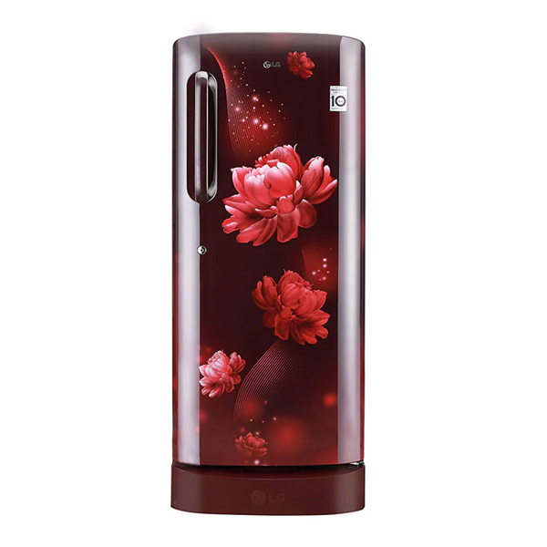 LG 235 L Direct Cool Single Door 4 Star Refrigerator with Base Drawer  (Scarlet Charm) (GLD241ASCD)