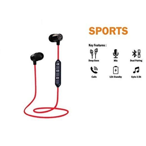 Hapi Pola Sports Earphone Bluetooth Headset  (Black, In the Ear) - HAPIPOLAWEPSPORTS