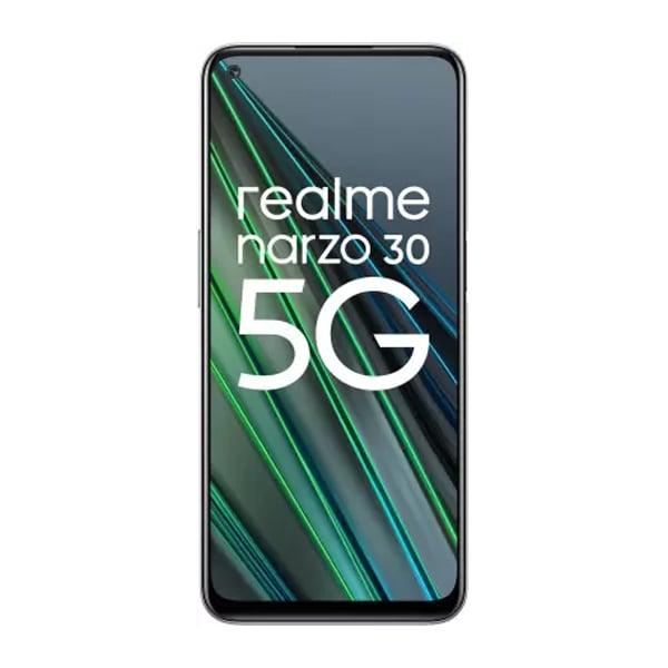 Realme Narzo 30 5G (Racing Silver, 128 GB)  (6 GB RAM) (REMNARZO306128SILVER)