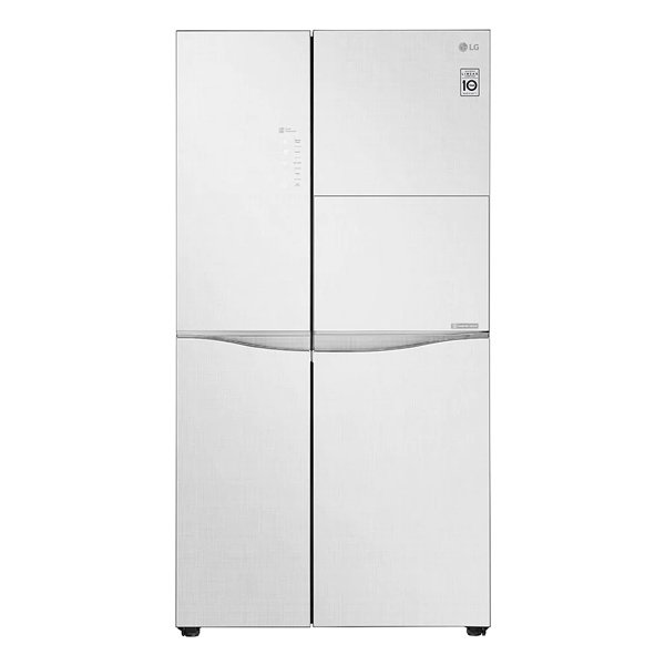 LG 675 L Frost Free Side by Side Refrigerator with Door Cooling and Smart ThinQ (Linen White) (GCC247UGLW)
