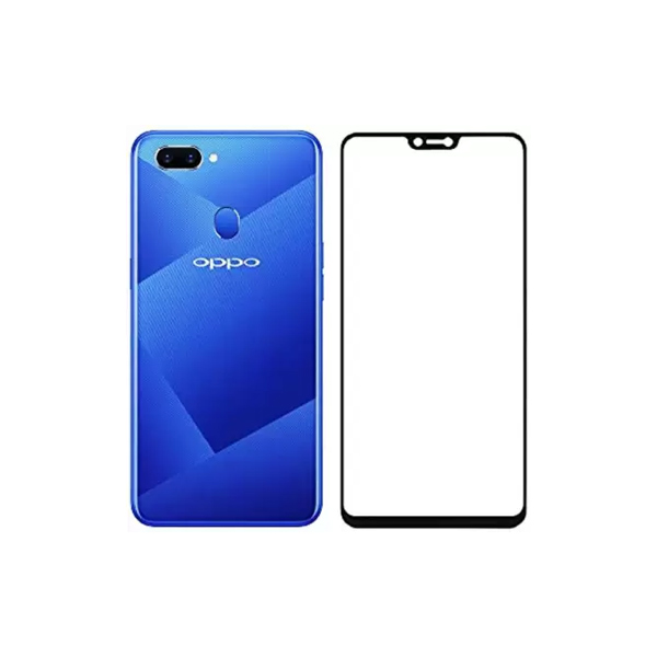 OPPO A5 NaturalBuy Edge To Edge Tempered Glass for OPPO A5 (5D Tempered glass)(Full Glue)  (Pack of 1) (OPPOTEMPA5S)