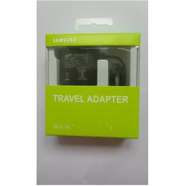 Samsung  1 A Mobile Charger  (Black, Cable Included) (SAMSEP-TA60IBEUGIN)
