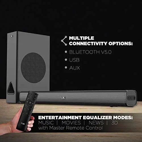 boAt Aavante Bar 1280 80 W Bluetooth Soundbar (Premium Black, 2.1 Channel) (BOATSBAAVANTE128080W)
