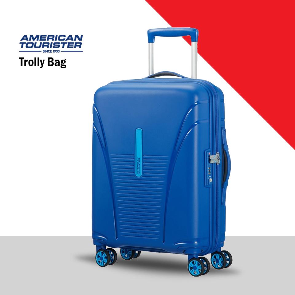 American tourister AmazonBasics 78 cm Light Blue Hardsided Check-in Trolley (AMERICANTOUTROLLYBAG)