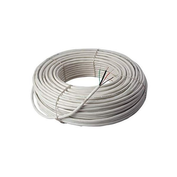 Busicorp CCTV WIRE CABLE 3+1 Full Copper- 90 METER (100 YARDS) White 90 m Wire  (white) (HISECURECABLE90MTR)