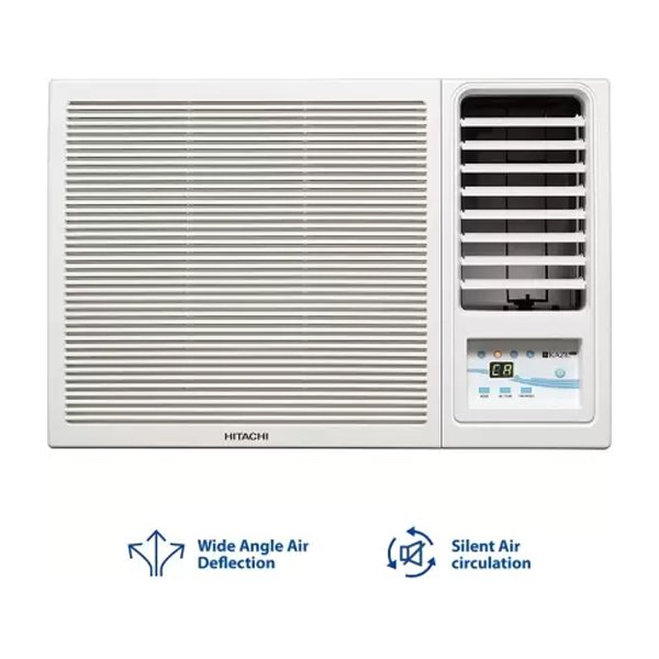 Hitachi 1.5 Ton 3 Star KAZE Plus Window AC - White  (1.5TNKAZEPS318HEDO3S)