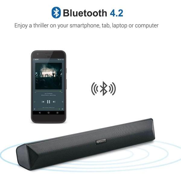 Portronics Pure Sound Pro III Bluetooth 4.2 an All-in-One Versatile Wireless SOUNDBAR with FM Tuner(POR891)