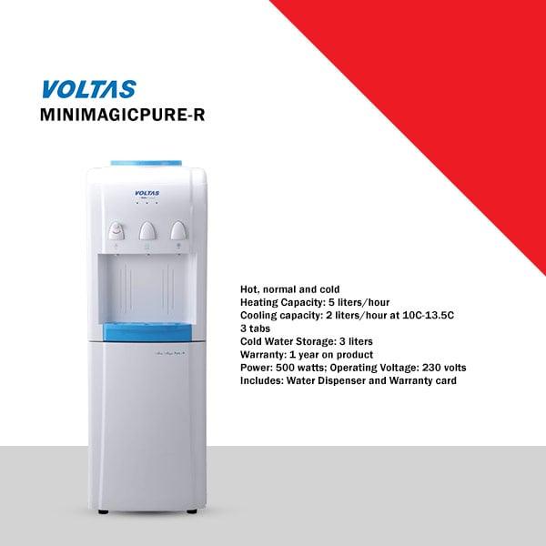 Voltas Mini Magic Pure-R FMR Bottled Water Dispenser (MINIMAGICPURE-R)