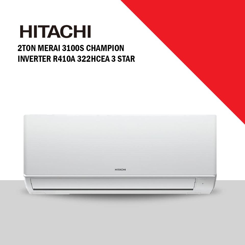 Hitachi 2Ton Merai 3100S Champion Inverter 3 Star AC (2TMERAI322HCEA)