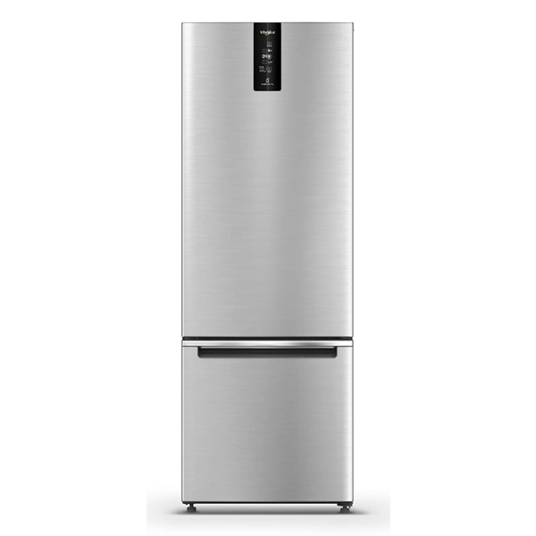 Whirlpool 325 L Frost Free Double Door Bottom Mount 3 Star Convertible Refrigerator  (Omega Steel) (IFPBMINVCNV340OS3SN)