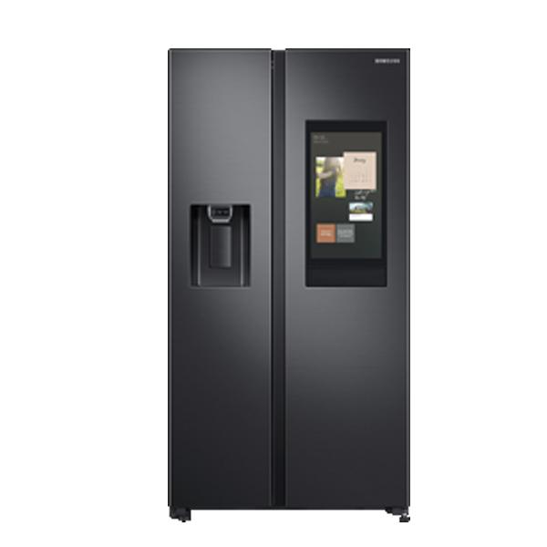 Samsung 657 L No Star Frost Free Side-by-Side Refrigerator (Gentle Black Matt) (RS74T5F01B4)