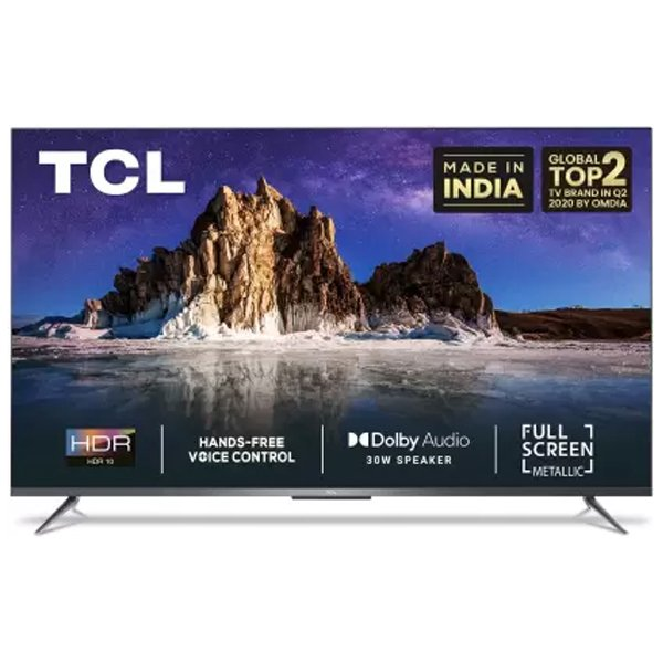 TCL 126 cm (50 inch) Ultra HD (4K) LED Smart Android TV with Full Screen & Handsfree Voice Control (TCL50P715)