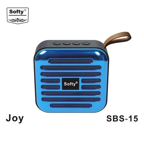 SOFTY SBS-15 Joy Wireless Bluetooth Speaker with (USB Pen Drive, Memory Card, FM, MIC) Option - Blue (SOFTYBTSBS15JOY)
