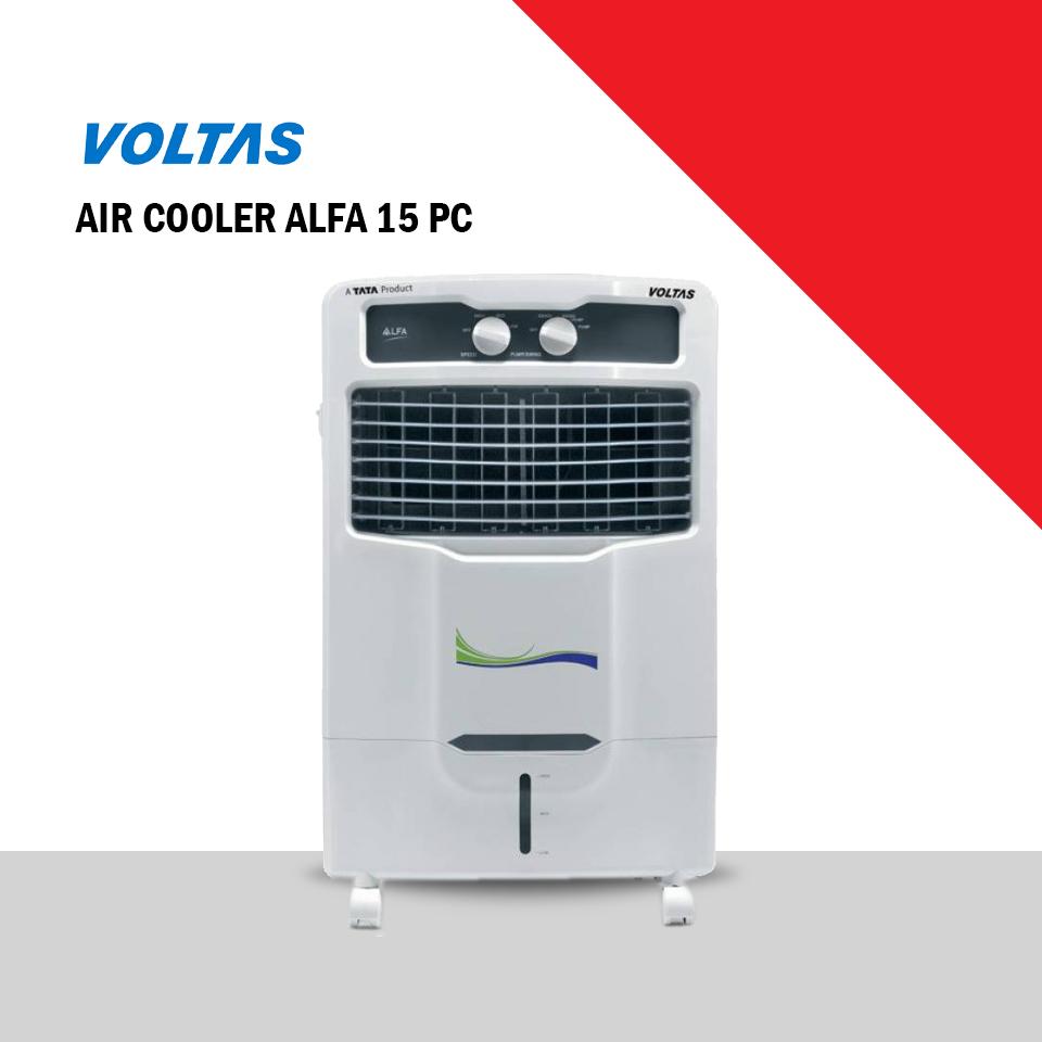 Voltas 15L Room/Personal Air Cooler  White,  (ALFA15PC)