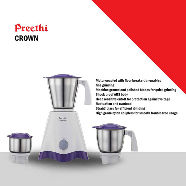 Preethi Mixie Crown 500W (MG-205)