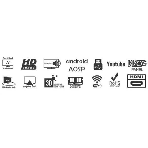 Amstrad Smart 80 cm 32 Inch LED TV (AM32HSA)