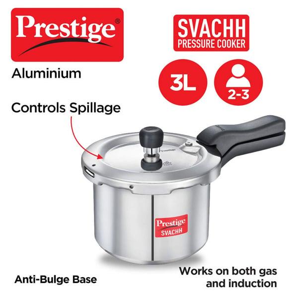 Prestige Svachh 3 L Induction Bottom Pressure Cooker (3LSVACHHALU)