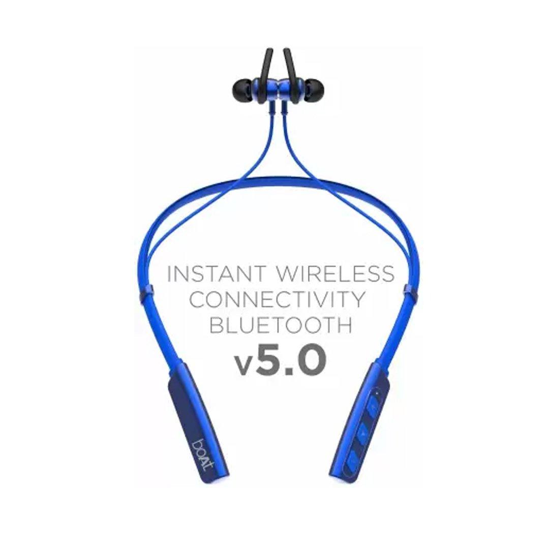 boAt Rockerz 238 Bluetooth Headset  (Blue, In the Ear) (BOATROCKERZ238)