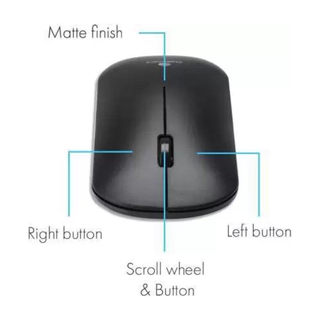ZEBRONICS Zeb-Dazzle Wireless Optical Mouse Wireless Optical Mouse  (2.4GHz Wireless, Black) (ZEBRONICSDAZZIEWLMOS)
