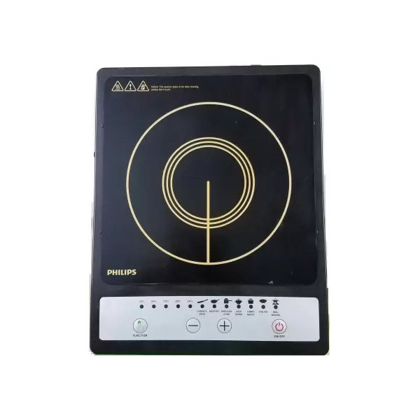 Philips Daily Collection 1500-Watt Induction Cooktop  (Black, Push Button) (INDCOOKHD4920)