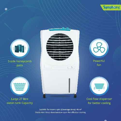 Symphony 27L Room/Personal Air Cooler  White ( ICECUBE27 )