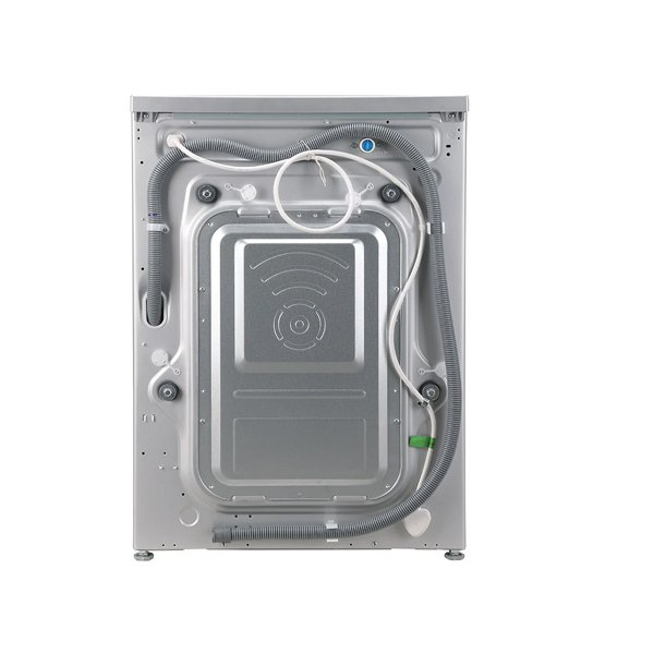 LG 8 kg Inverter Fully Automatic Front Load with In-built Heater Silver  (FHT1408ZNL)