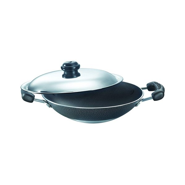 Butterfly 22cm Appachetty with Lid (Deep) Appachatty Set with Lid  (Aluminium, Non-stick, RAGAAPPACHATTY200MMD)