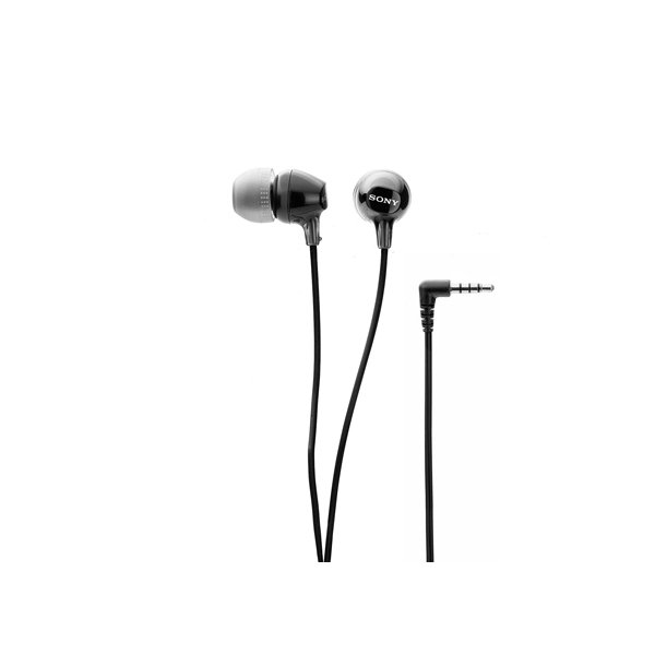 Sony EX14AP Wired Headset with Mic  (Black, In the Ear) (SONYWHPMDREX14AP)