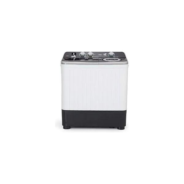 Haier 7 kg Semi Automatic Top Load Black, White (HTW70186S)